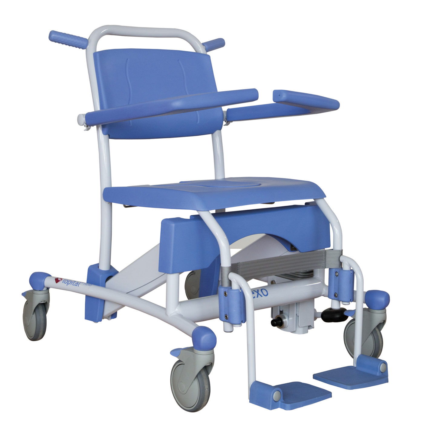 Elexo Adjustable Shower-Toilet Chair | ProCare Medical